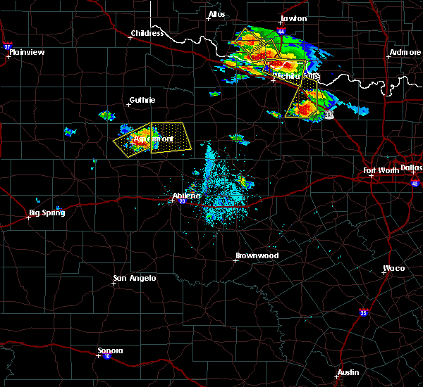 Radar Image for Severe Thunderstorms near Rochester, TX at 5/22/2020 7:09 PM CDT
