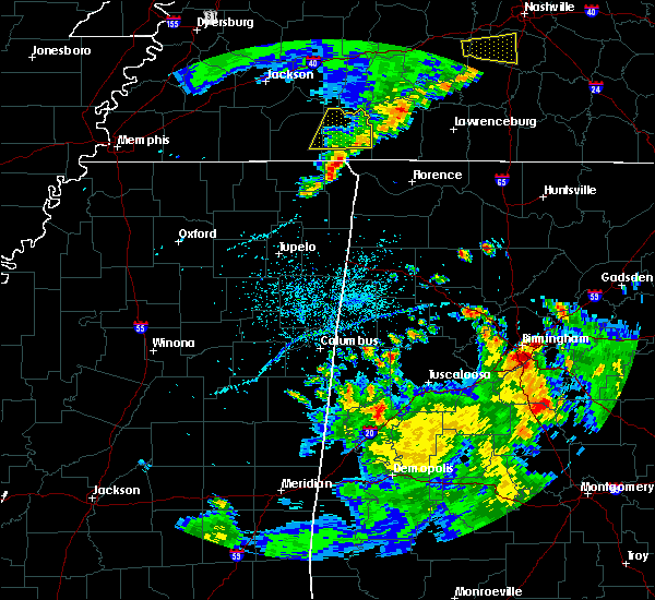 Radar Image for Severe Thunderstorms near Waterloo, AL at 5/22/2020 7:12 PM CDT