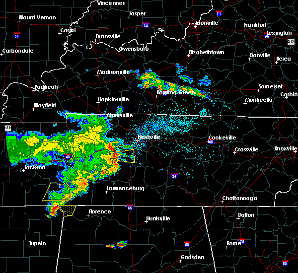 Radar Image for Severe Thunderstorms near Spring Hill, TN at 5/22/2020 7:15 PM CDT