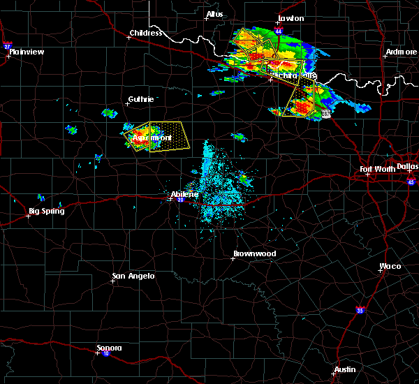 Radar Image for Severe Thunderstorms near Aspermont, TX at 5/22/2020 7:14 PM CDT