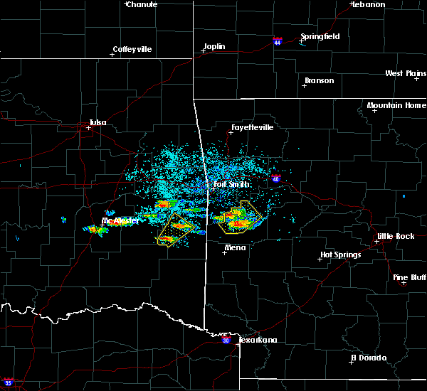 Radar Image for Severe Thunderstorms near Mansfield, AR at 5/22/2020 7:19 PM CDT