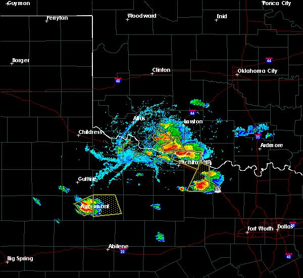 Radar Image for Severe Thunderstorms near Henrietta, TX at 5/22/2020 7:18 PM CDT