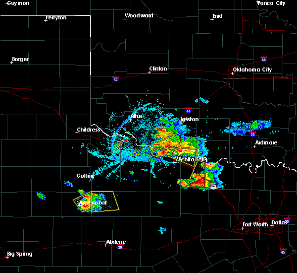 Radar Image for Severe Thunderstorms near Petrolia, TX at 5/22/2020 7:27 PM CDT