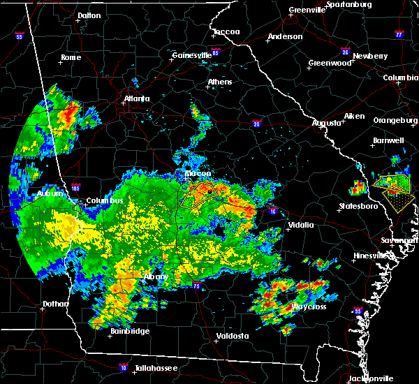 Radar Image for Severe Thunderstorms near Jeffersonville, GA at 5/22/2020 8:30 PM EDT