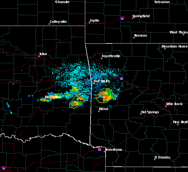 Radar Image for Severe Thunderstorms near Mansfield, AR at 5/22/2020 7:32 PM CDT