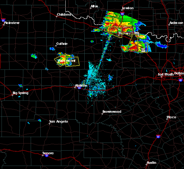 Radar Image for Severe Thunderstorms near Stamford, TX at 5/22/2020 7:37 PM CDT