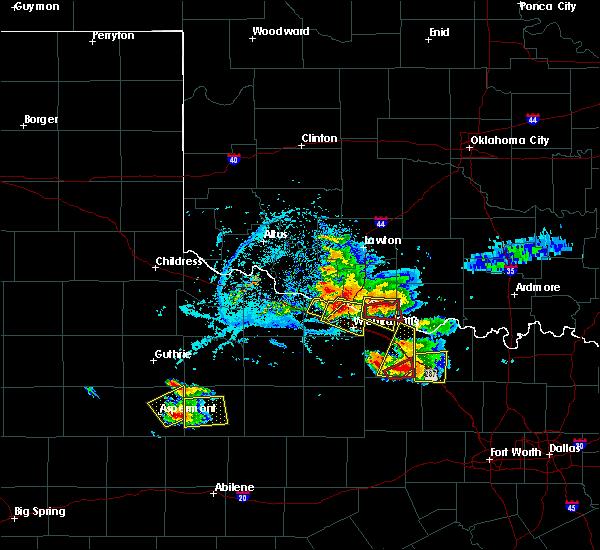 Radar Image for Severe Thunderstorms near Petrolia, TX at 5/22/2020 7:38 PM CDT