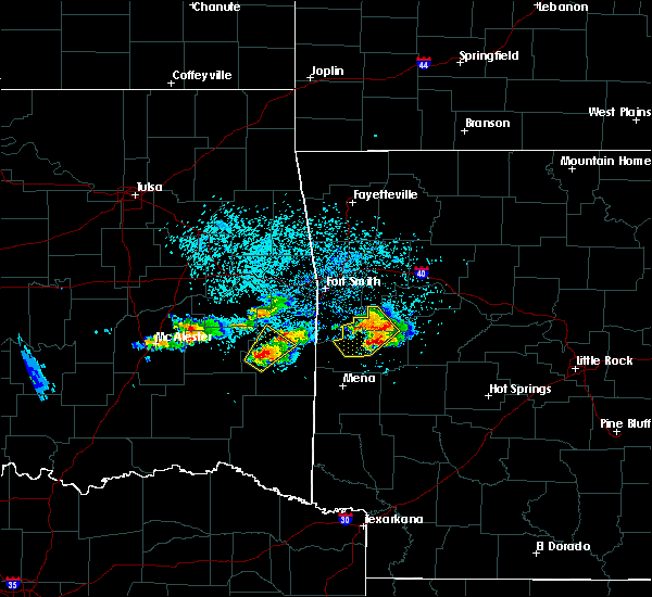 Radar Image for Severe Thunderstorms near Ratcliff, AR at 5/22/2020 7:39 PM CDT