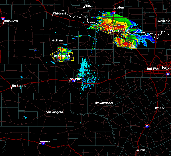 Radar Image for Severe Thunderstorms near Benjamin, TX at 5/22/2020 7:45 PM CDT