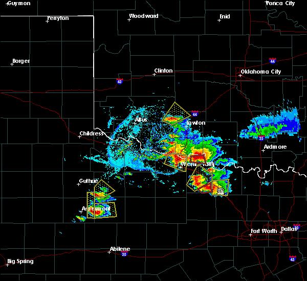 Radar Image for Severe Thunderstorms near Petrolia, TX at 5/22/2020 7:51 PM CDT
