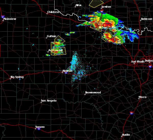 Radar Image for Severe Thunderstorms near Stamford, TX at 5/22/2020 7:54 PM CDT
