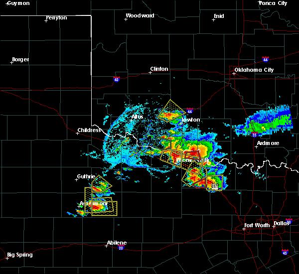 Radar Image for Severe Thunderstorms near Petrolia, TX at 5/22/2020 7:58 PM CDT