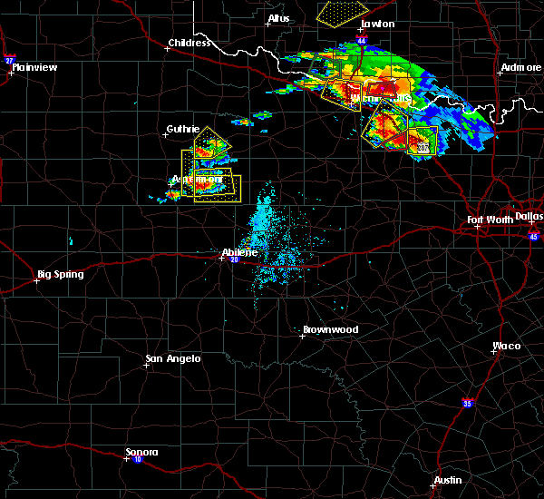 Radar Image for Severe Thunderstorms near Benjamin, TX at 5/22/2020 8:00 PM CDT