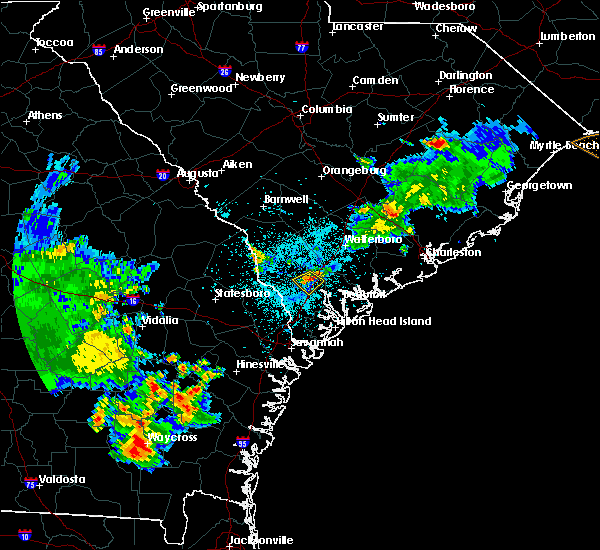 Radar Image for Severe Thunderstorms near Ridgeland, SC at 5/22/2020 9:02 PM EDT