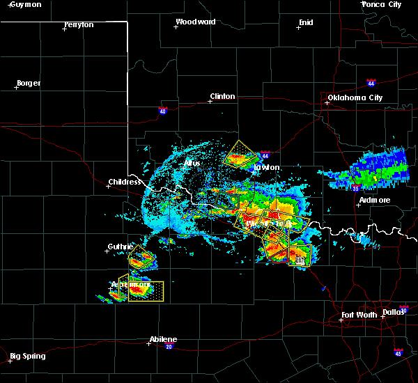 Radar Image for Severe Thunderstorms near Wichita Falls, TX at 5/22/2020 8:04 PM CDT