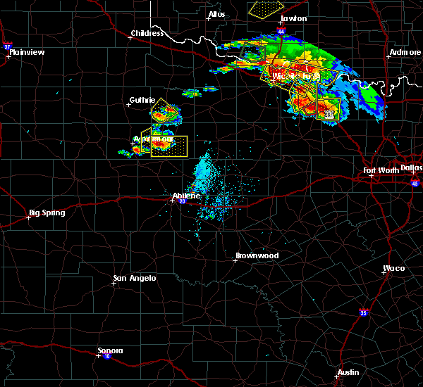 Radar Image for Severe Thunderstorms near Stamford, TX at 5/22/2020 8:06 PM CDT