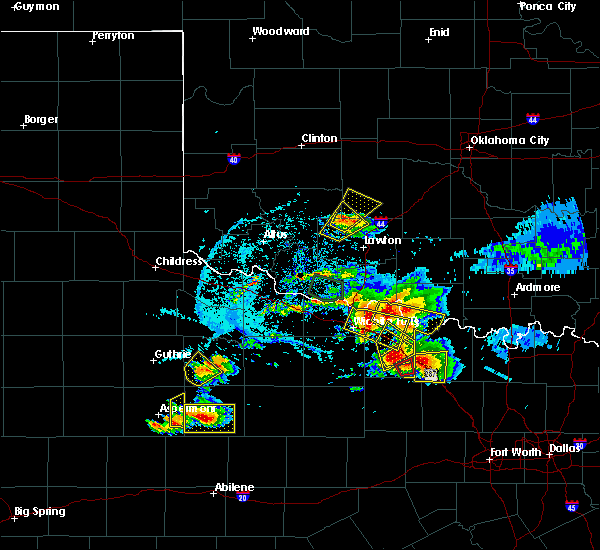 Radar Image for Severe Thunderstorms near Carnegie, OK at 5/22/2020 8:16 PM CDT