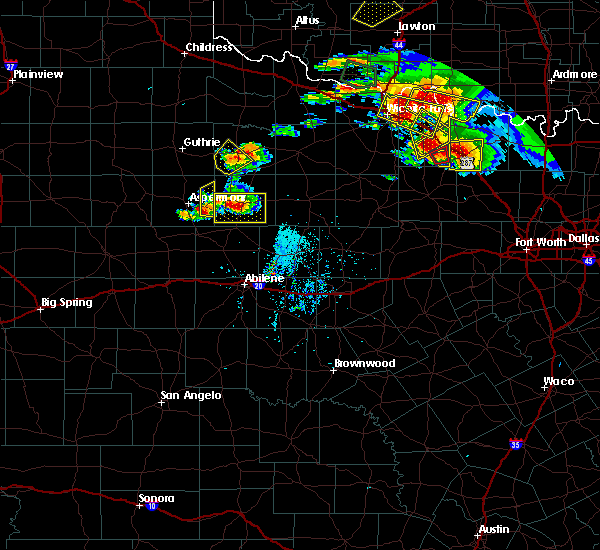 Radar Image for Severe Thunderstorms near Stamford, TX at 5/22/2020 8:19 PM CDT