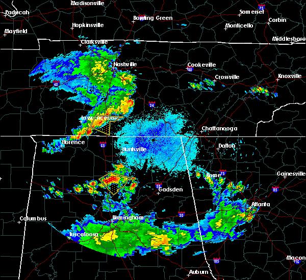 Radar Image for Severe Thunderstorms near Hanceville, AL at 5/22/2020 8:21 PM CDT