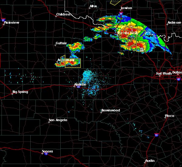 Radar Image for Severe Thunderstorms near Aspermont, TX at 5/22/2020 8:24 PM CDT