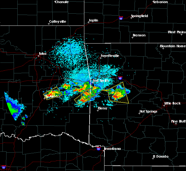 Radar Image for Severe Thunderstorms near Midland, AR at 5/22/2020 8:29 PM CDT