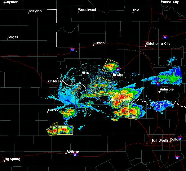 Radar Image for Severe Thunderstorms near Carnegie, OK at 5/22/2020 8:28 PM CDT