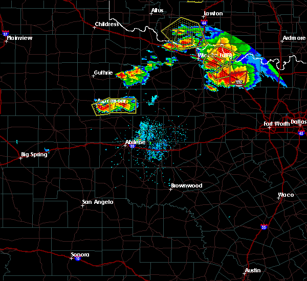 Radar Image for Severe Thunderstorms near Stamford, TX at 5/22/2020 8:31 PM CDT