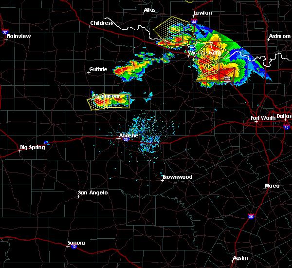 Radar Image for Severe Thunderstorms near Aspermont, TX at 5/22/2020 8:38 PM CDT