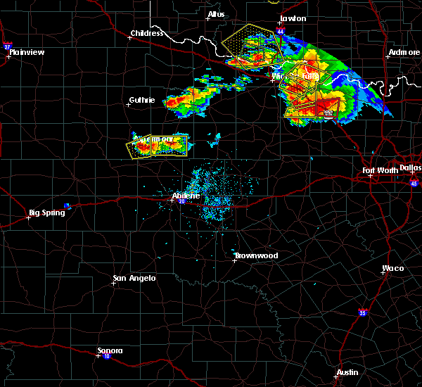Radar Image for Severe Thunderstorms near Stamford, TX at 5/22/2020 8:42 PM CDT