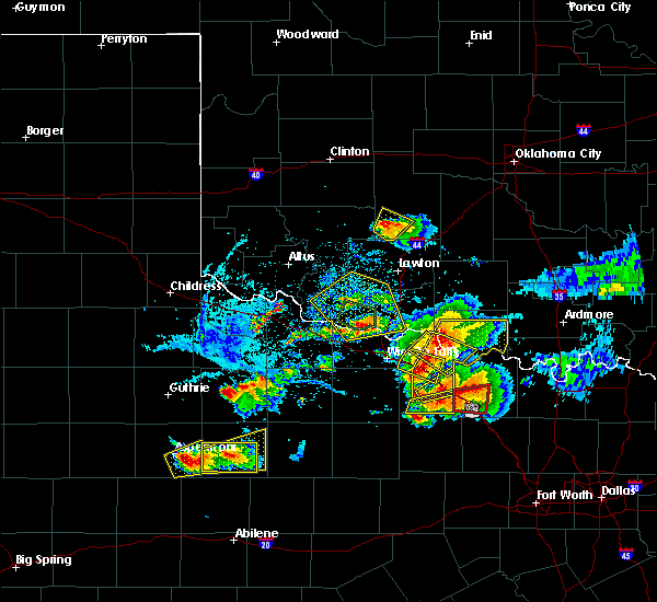 Radar Image for Severe Thunderstorms near Cornish, OK at 5/22/2020 8:43 PM CDT