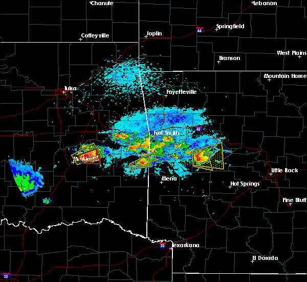 Radar Image for Severe Thunderstorms near Quinton, OK at 5/22/2020 8:47 PM CDT