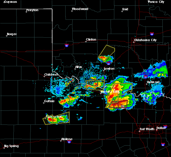 Radar Image for Severe Thunderstorms near Electra, TX at 5/22/2020 8:49 PM CDT