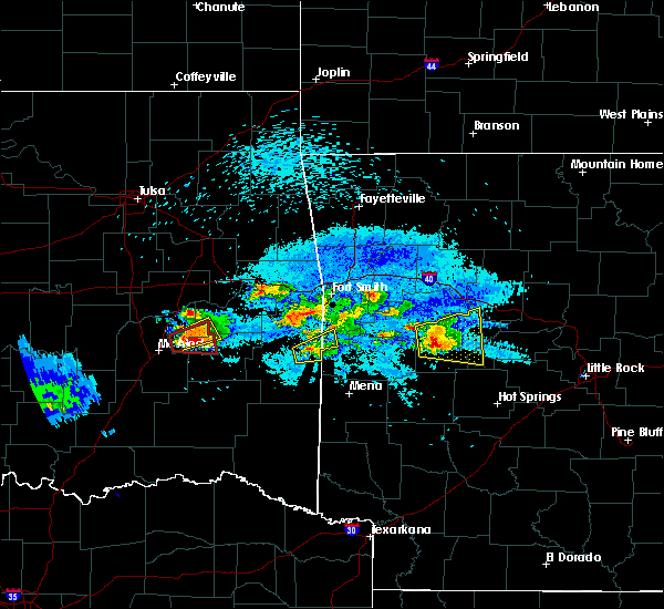 Radar Image for Severe Thunderstorms near Greenwood, AR at 5/22/2020 8:54 PM CDT