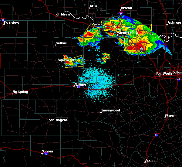Radar Image for Severe Thunderstorms near Stamford, TX at 5/22/2020 9:04 PM CDT