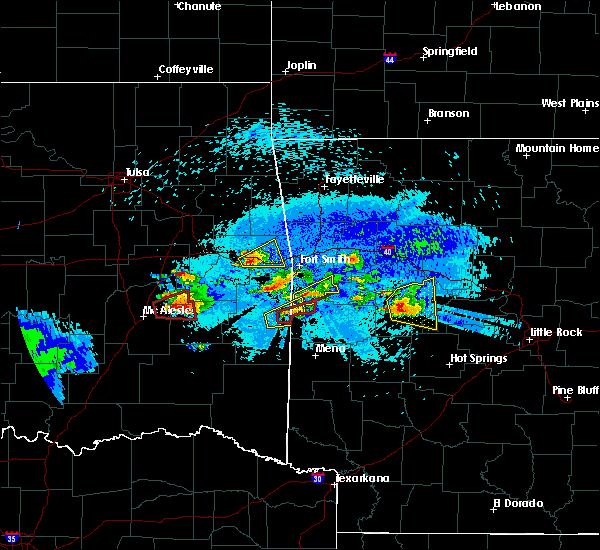 Radar Image for Severe Thunderstorms near Midland, AR at 5/22/2020 9:05 PM CDT
