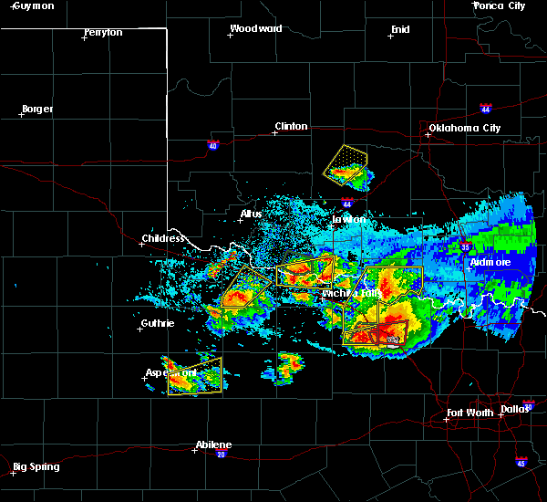 Radar Image for Severe Thunderstorms near Electra, TX at 5/22/2020 9:07 PM CDT