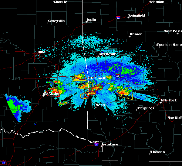 Radar Image for Severe Thunderstorms near Red Oak, OK at 5/22/2020 9:13 PM CDT