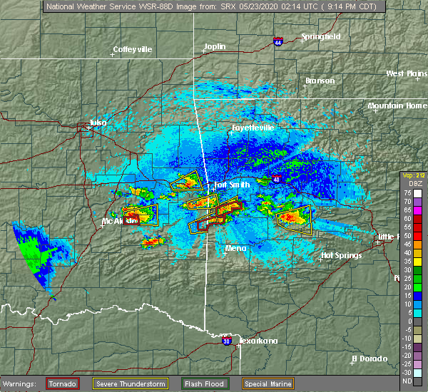 Radar Image for Severe Thunderstorms near Whitesboro, OK at 5/22/2020 9:19 PM CDT