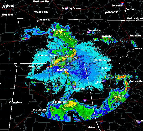 Radar Image for Severe Thunderstorms near Decherd, TN at 5/22/2020 9:26 PM CDT