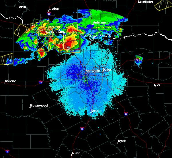 Radar Image for Severe Thunderstorms near Jacksboro, TX at 5/22/2020 9:30 PM CDT
