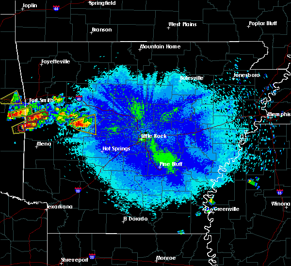 Radar Image for Severe Thunderstorms near Danville, AR at 5/22/2020 9:30 PM CDT