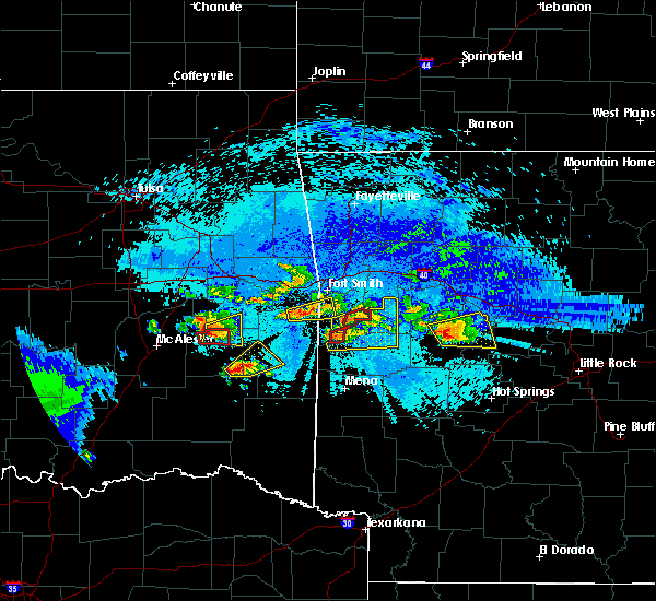 Radar Image for Severe Thunderstorms near Red Oak, OK at 5/22/2020 9:41 PM CDT