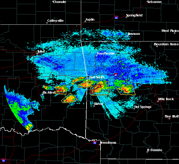 Radar Image for Severe Thunderstorms near Mansfield, AR at 5/22/2020 9:45 PM CDT