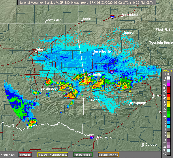 Radar Image for Severe Thunderstorms near Whitesboro, OK at 5/22/2020 10:11 PM CDT