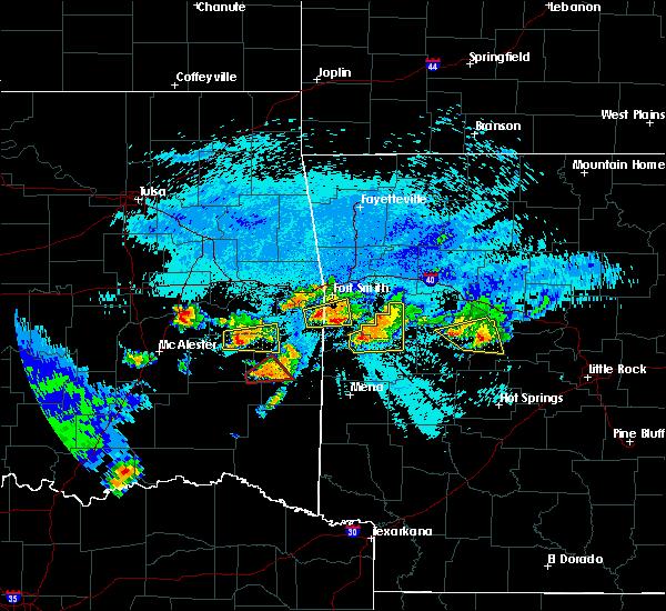 Radar Image for Severe Thunderstorms near Magazine, AR at 5/22/2020 10:15 PM CDT