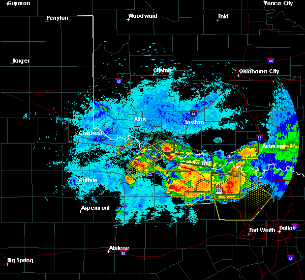 Radar Image for Severe Thunderstorms near Electra, TX at 5/22/2020 10:16 PM CDT