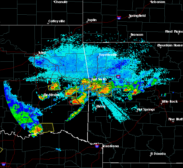 Radar Image for Severe Thunderstorms near Red Oak, OK at 5/22/2020 10:19 PM CDT