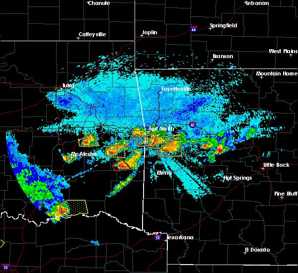 Radar Image for Severe Thunderstorms near Heavener, OK at 5/22/2020 10:30 PM CDT