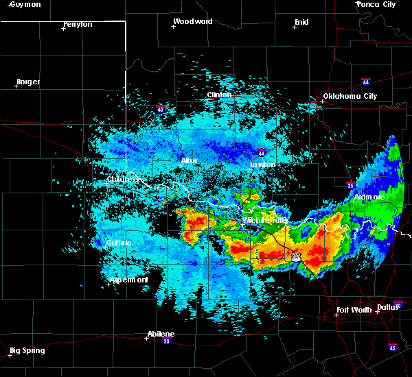Radar Image for Severe Thunderstorms near Scotland, TX at 5/22/2020 10:48 PM CDT