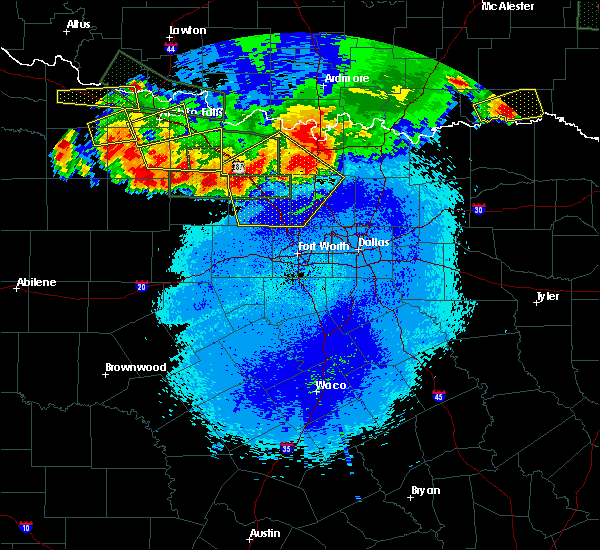 Radar Image for Severe Thunderstorms near Van Alstyne, TX at 5/22/2020 11:22 PM CDT